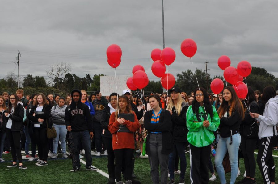 LHS Students Participate in Nationwide School Walkout