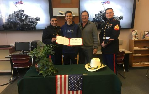 LHS Senior Receives Surprise Marine Scholarship