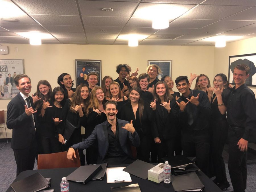 Matthew Morrison Performs With LHS Chamber Choir