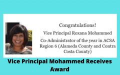 Vice Principal Mohammed Receives Award