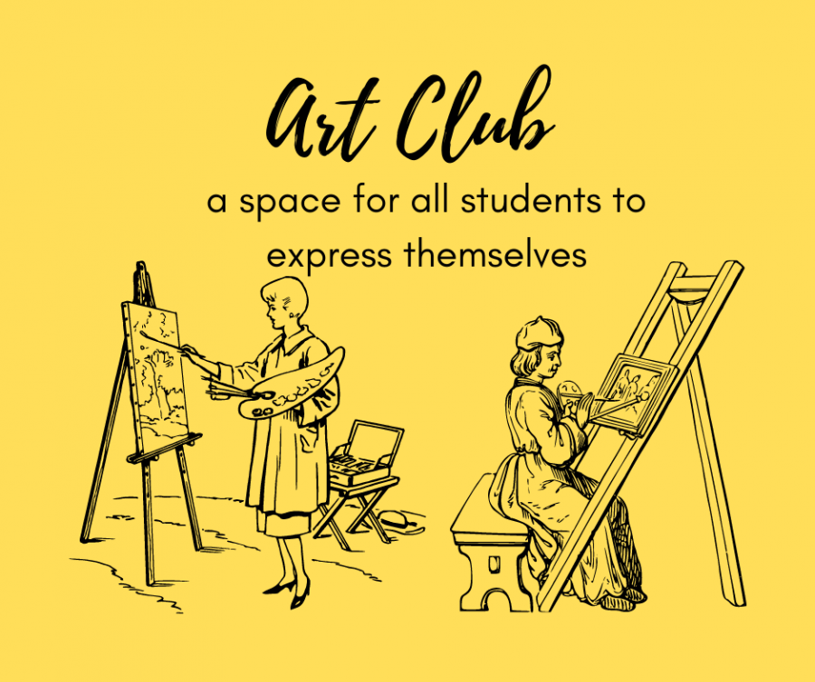 Art club is a space for all students to express themselves
